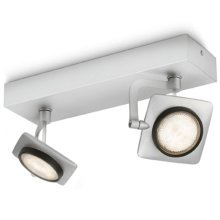 Philips myLiving Spotlight Millennium 2x4.5 W Grey 531924816