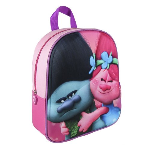 e57adfc597f4 Children Kids Trolls Princess Poppy & Branch 3D Effect Pink Junior Backpack  on OnBuy