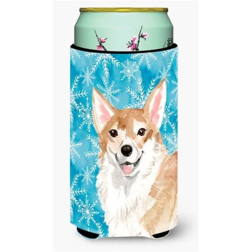 Carolines Treasures BB9449TBC Corgi Winter Tall Boy Beverage Insulator Hugger