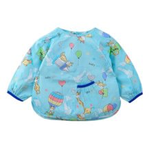 Lovely Baby Bibs Feeding Bib Kid's Apron Overclothes Waterproof Long Sleeves Art Smock NO.03