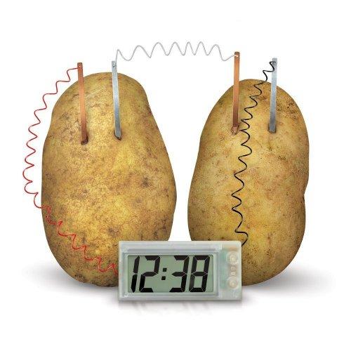 Potato-Powered Digital Clock | Digital Potato Clock