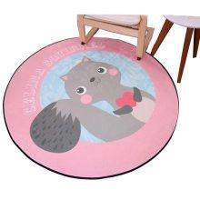 Round 80 CM Child Rugs Play Carpet Chair Cushion Swivel Chair Cushion-A2