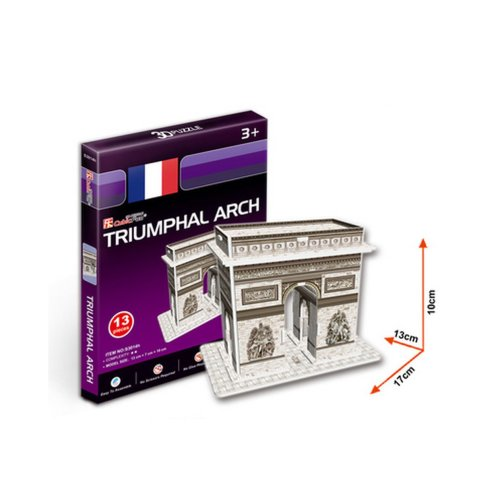 The Arc DE Triomphe Three-Dimensional Building Of Manual Assembly Paper Model