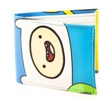 ADVENTURE TIME Finn and Jake Faces Full Colour Bi-fold Wallet, White (MW165713ADV)