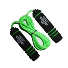 Jump Rope for Fitness Training,Athletic Speed Rope 3M Rubber Skip Rope Green
