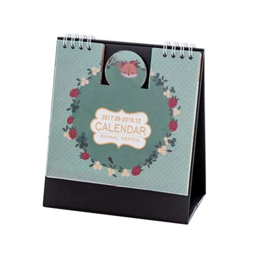 Fox Style Calendar 2017-2018 Creative Simple Desk/Student Calendar