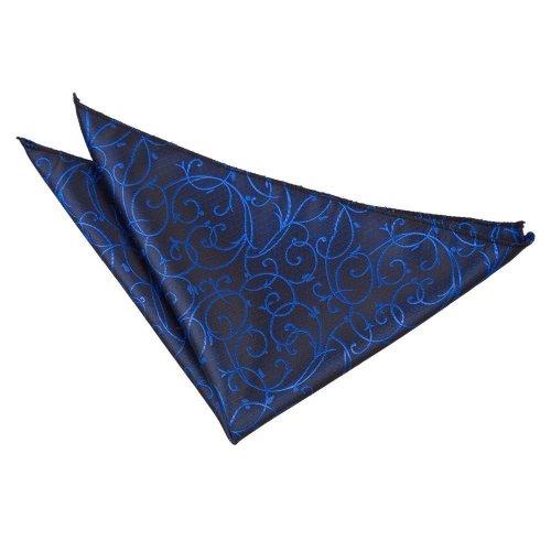 Black & Blue Swirl  Pocket Square