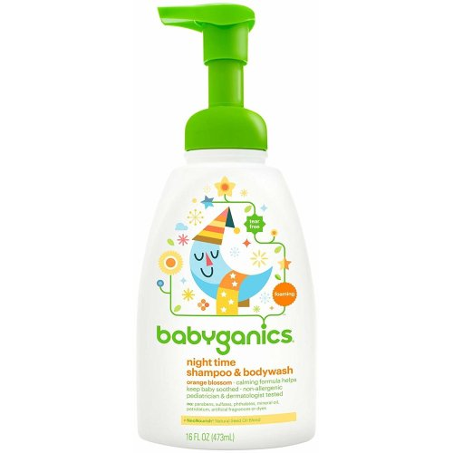 BabyGanics, Good Night Shampoo + Body Wash, Orange Blossom, 473 ml