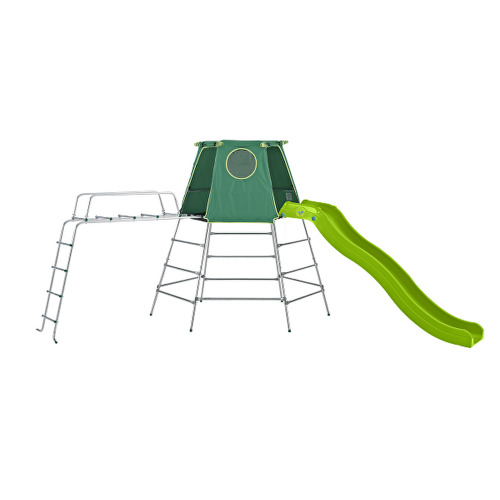 TP Toys Explorer Metal Climbing Frame Set With Slide and Jungle Run Extendable From Low-High Height Ages 18 Months-12 Years