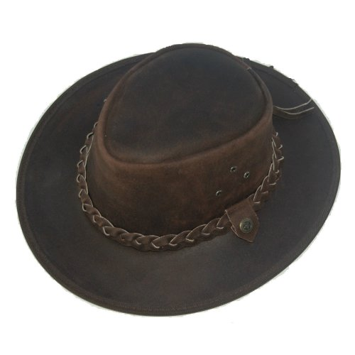 Western Cowboy-Style Bush Hat - Brown