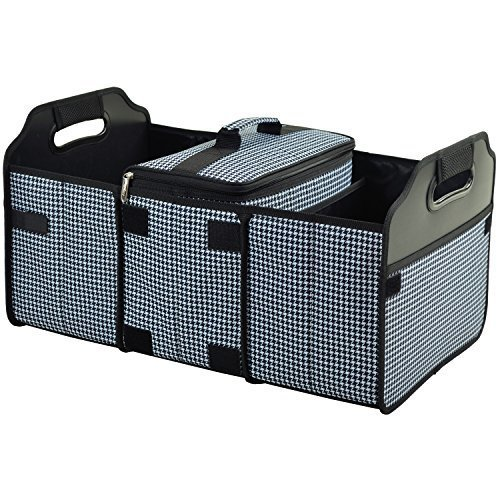 Original Folding Trunk Organizer With Cooler By Picnic At Ascot Houndstooth