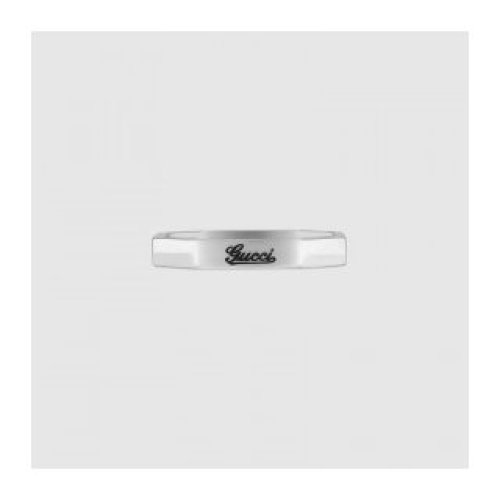 GUCCI RING, GUCCI 18KT WHITE GOLD size 16 201946 J8500 9000