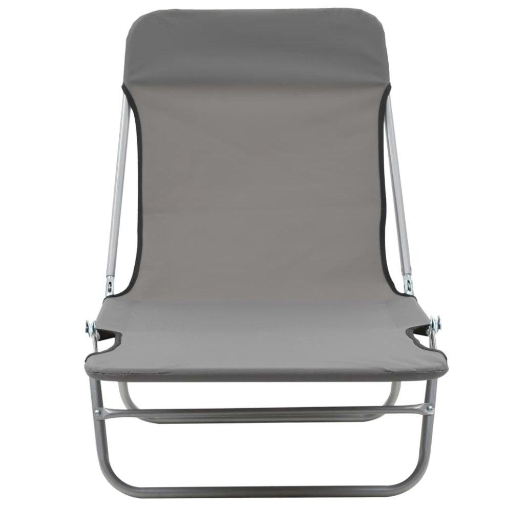 Marvelous Garden Patio Furniture Vidaxl Foldable Sunlounger With Inzonedesignstudio Interior Chair Design Inzonedesignstudiocom