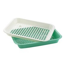Plastic Drain Vegetables And Fruit Tray Dish Rack Kitchen Compartment Tray