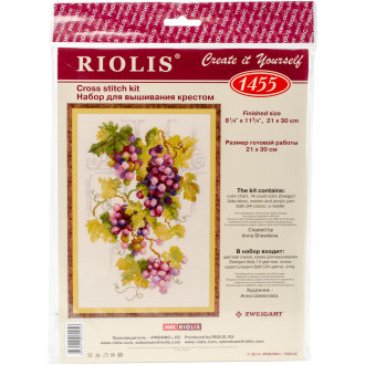 """Grapevine Counted Cross Stitch Kit-8.25""""X11.75"""" 14 Count"""