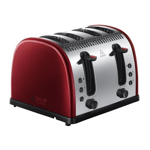 Russell Hobbs Legacy 4 Slice Toaster 2400W - Metallic Red (Model No. 21301)