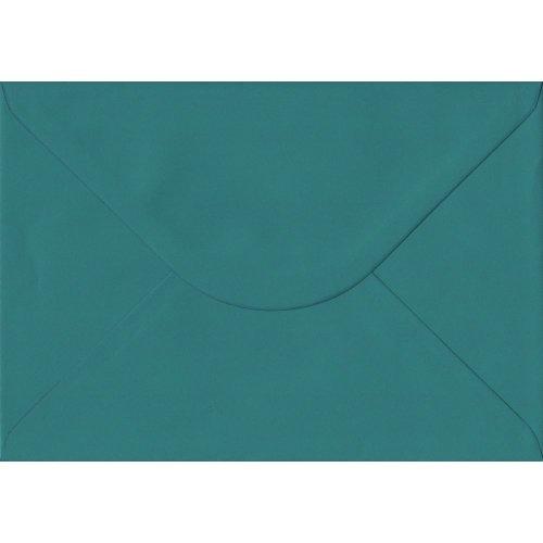 Teal Green Gummed C5/A5 Coloured Green Envelopes. 135gsm GF Smith Colorplan Paper. 162mm x 229mm. Banker Style Envelope.