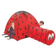 POP UP TENT & LONG TUNNEL PINK ELEPHANT / LADYBIRD GIRS BOYS CHILDREN XMAS TOYS [Ladybird]