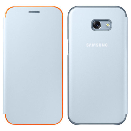 Official Samsung Neon Flip Cover for Samsung Galaxy A3 2017 - Blue