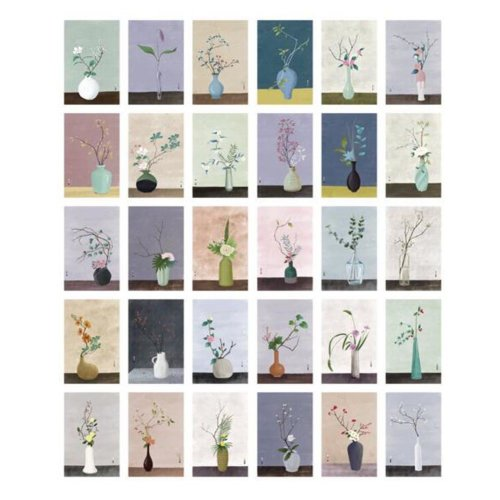 30PCS 1 Set Creative Postcards Artistic Beautiful Postcards, Years of Flowers