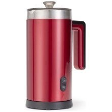 Retro Diner Milk Frother and Hot Chocolate Maker Red