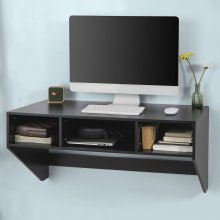 SoBuy® FWT14-SCH, Black Home Office Computer Desk Workstation Wall-mounted Table Desk