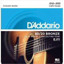 D'Addario EJ11 80/20 Bronze Light  (.012-.053) Acoustic Guitar Strings