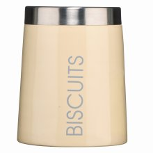 Premier Housewares Conical Biscuit Canister - Cream