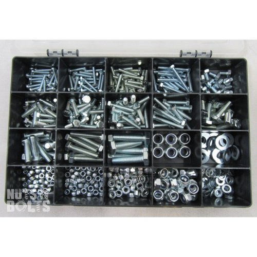 Grade 8.8 Assorted Box kit M4,M5 M6 M8 M10 Nuts And Bolts Setscrews BZP NYLOC