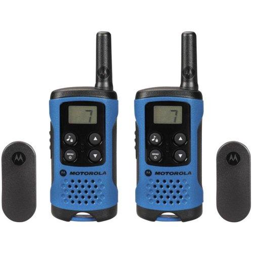 Motorola T41 Walkie Talkie Consumer Radio - Blue (Pack of 2)