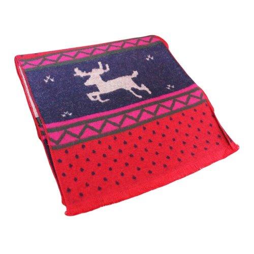 Winter Kids Scarves Cashmere Warm Children Scarf Tassels Elk Pattern