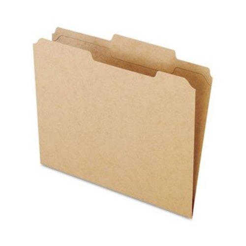 Pendaflex RK152-1/3 Two-Ply- Dark Kraft File Folders- 1/3 Cut- Top Tab- Letter- Brown- 100/Box