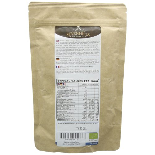Sevenhills Wholefoods Organic Chlorella Powder, Broken Cell Wall, 250g