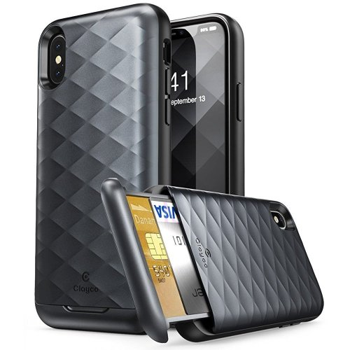 best service c12b8 02aef Clayco iPhone X Case, [Argos Series] Premium Hybrid Protective ...