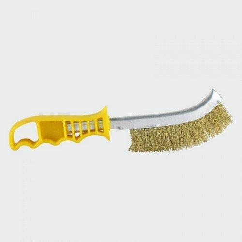 TIMco YWHB Yellow Handle Wire Brush Brass 255mm