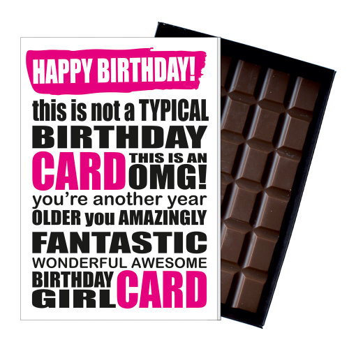 Funny Birthday Gift A Rude Naughty Silly Present For Women 85g Chocolate Card