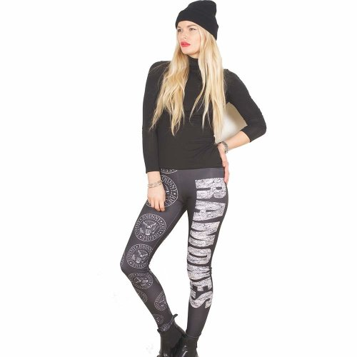 Rockoff Trade Women's Presidential Seal Leggings, Black, Large-x-large -  ramones seal leggings presidential ladies officially licensed logo fashion