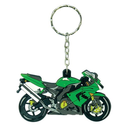 Kawsaki ZX 10 R rubber key ring motorcycle gift keyring green ZX10R