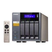 QNAP (TS-453A-4G) 4-Bay QTS-Linux Combo NAS Enclosure (No Drives), iSCSI-SAN, Quad Core CPU, 4GB DDR3, 512MB Flash