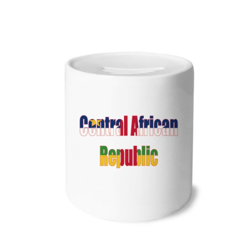 Central African Country Flag Name Money Box Saving Banks Ceramic Coin Case Kids Adults