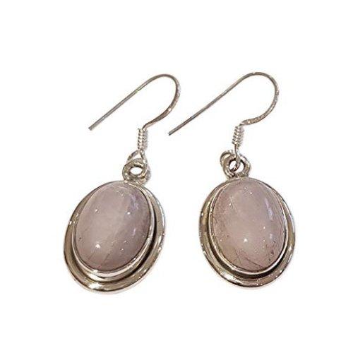 Stunning 925 Silver Natural Gemstone Dangle Earrings