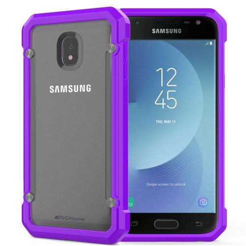 promo code ecfd0 8ff2a TECHGEAR Galaxy J3 2017 Case - [Fusion Armour] Premium Slim Hybrid  Protective Bumper Case Cover Compatible with Samsung Galaxy J3 2017  (SM-J330...