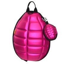 Creative Children Backpack Soft Shoulder Bag Fashion School Bag-Rose Red