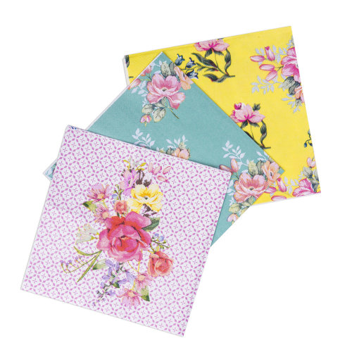 Vintage Floral Assorted Tea Time Paper Napkins x 18 Afternoon Tea Party