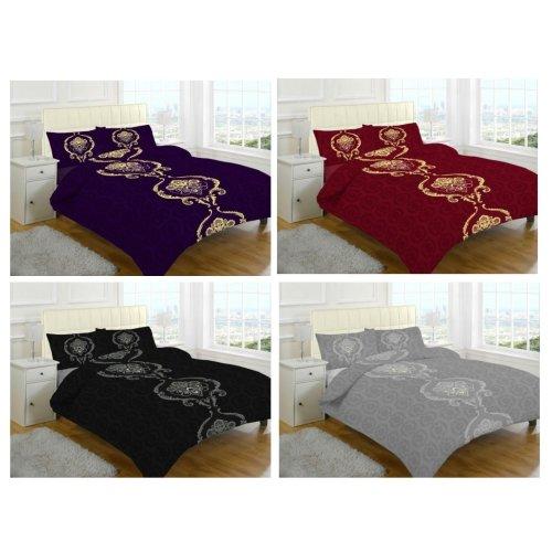 Dominic Heart Printed Duvet Quilt Cover Bedding Set
