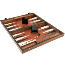 Manopoulos Luxury Sienna and Mahogany Backgammon Set