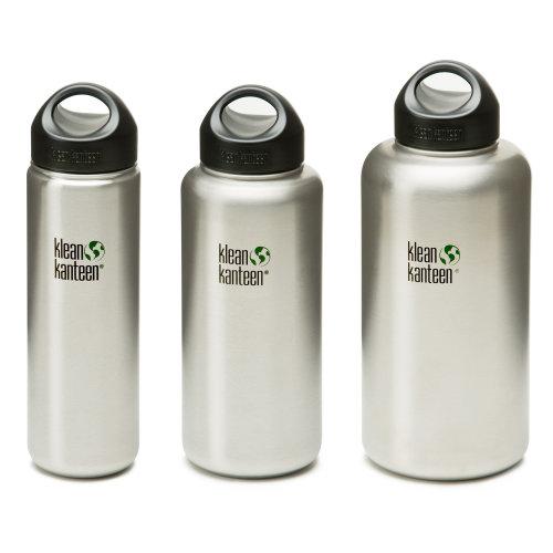 Klean Kanteen Wide - Stainless Steel water bottle with loop cap
