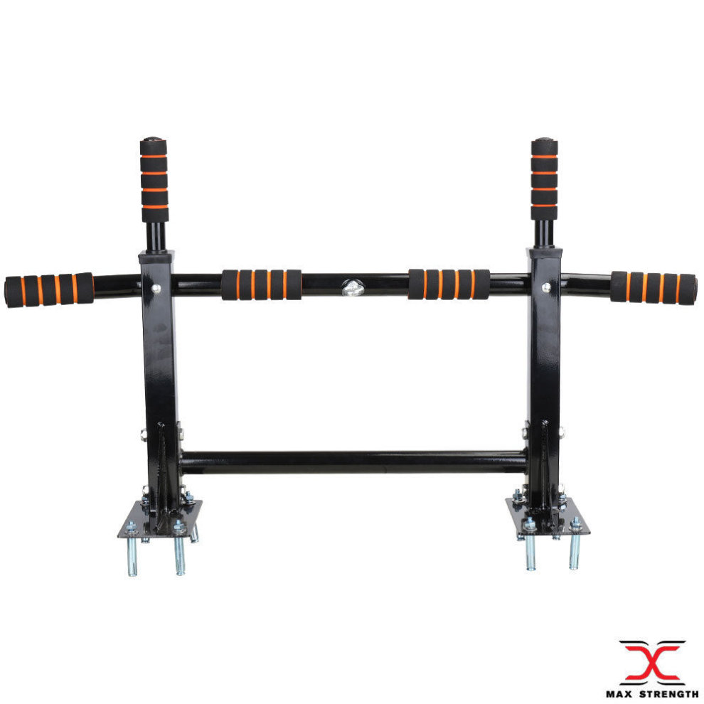 Chin Pull Up Bar Chinning Bracket Home Gym Fitness Exercise Black On