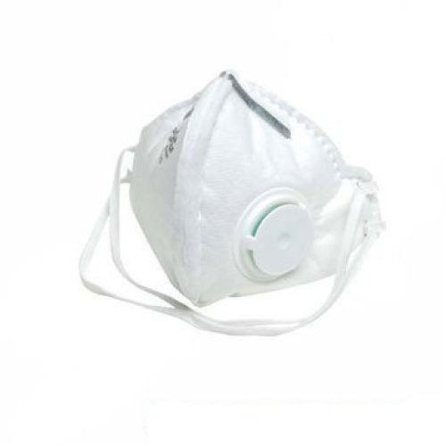 Ffp2 Nr Fold Flat Valved Face Mask - Silverline Respirator 25 282404 Box -  ffp2 nr valved fold flat silverline respirator mask 25 282404 box display