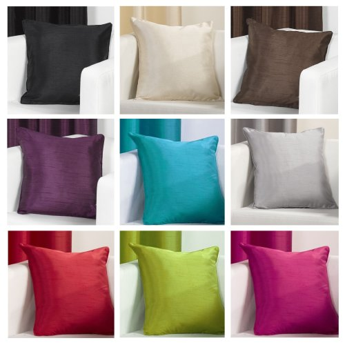 Faux Silk Slubbed Cushion Covers 18x18 inch